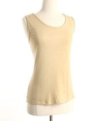 Sand Organic Cotton Nursing Tank