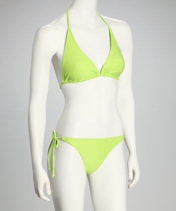 Neon Green Triangle Bikini
