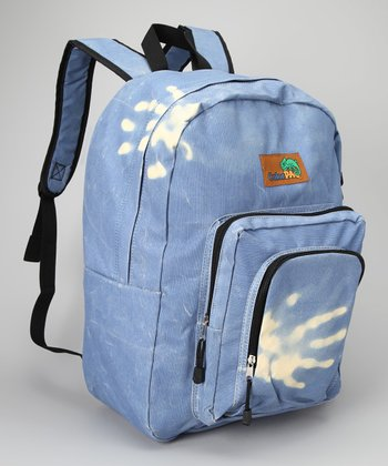 Denim & Orange Color-Change Backpack
