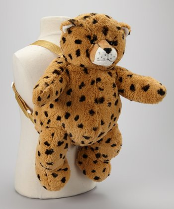Brown Cheetah Backpack