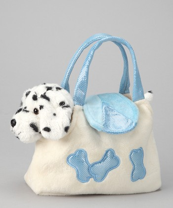 Blue & White Plush Dalmatian & Purse