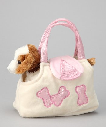 Pink Plush Dog & Purse