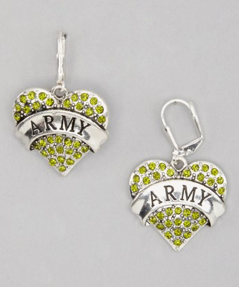Green 'Army' Earrings