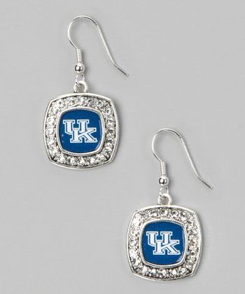 Kentucky Wildcats Silver Logo Earrings - Women