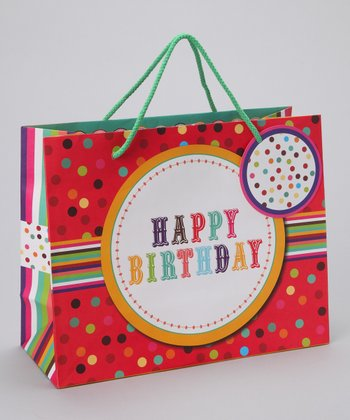 Birthday Button Gift Tote - Set of Three
