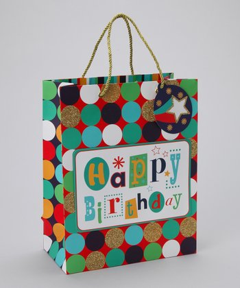 Dots 'Happy Birthday' Gift Tote - Set of Three
