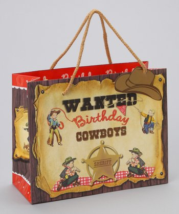 Medium Birthday Cowboy Gift Tote - Set of Three