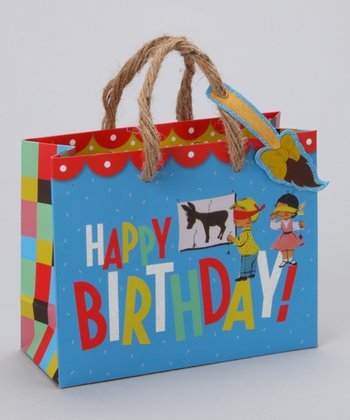 Blue Birthday Party Gift Tote - Set of Three