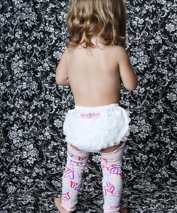 White Satin Ruffle Diaper Cover - Infant