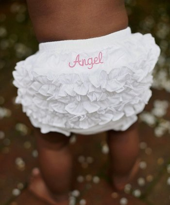 White 'Angel' Ruffle Diaper Cover - Infant & Toddler