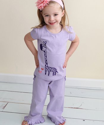 Lavender Ruffle Pants - Infant
