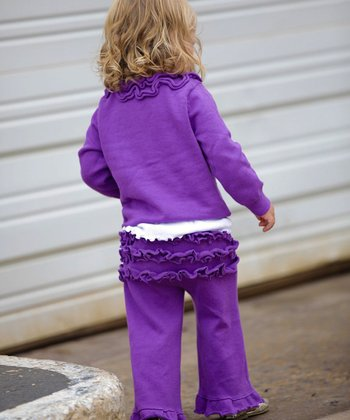 Purple Ruffle Pants - Infant