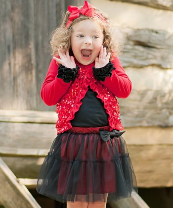 Red & Black Tutu Skirt - Infant, Toddler & Girls