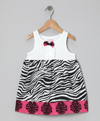 Pink Zebra Dress - Infant, Toddler & Girls
