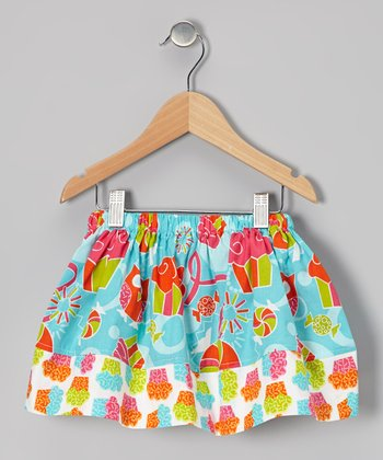 Blue Cupcake Zigzag Skirt - Infant, Toddler & Girls