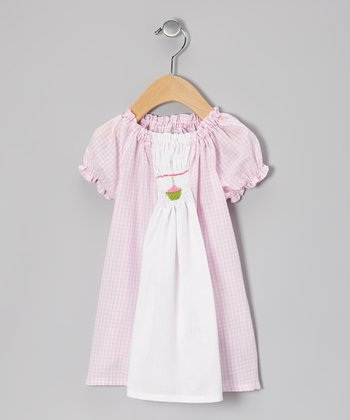 Pink & White Gingham Smocked Dress - Infant & Toddler