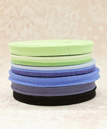 Blue Twill Ribbon Set