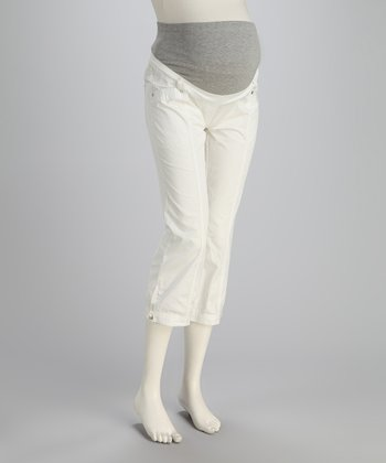 White Cargo Maternity Pants