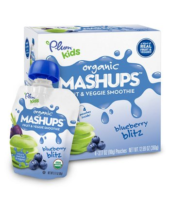 Blueberry Blitz Fruit & Veggie Organic Mashups Pouch - Set of 24