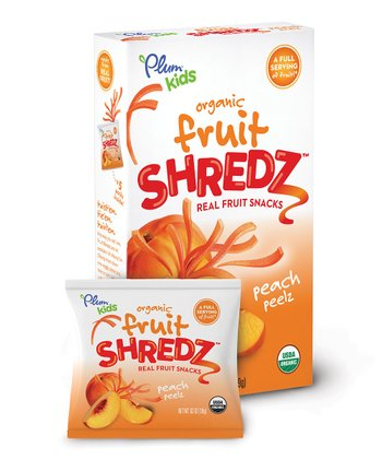 Plum Kids Peach Peelz Organic Fruit Shredz - Set of 40