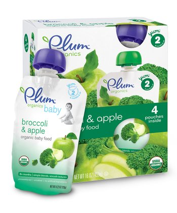 Broccoli & Apple Organic Stage 2 Second Blends Pouch - Set of 24