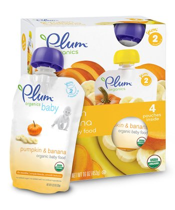 Pumpkin & Banana Organic Stage 2 Second Blends Pouch - Set of 24