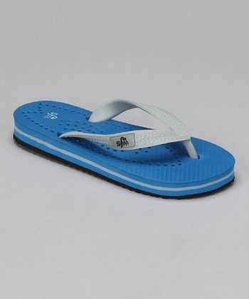 Blue & Gray Surfboard Flip-Flop