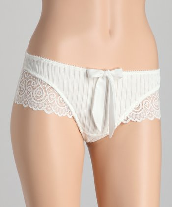 White Narce Lacy Boyshorts - Women