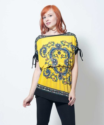 Yellow & Black Brigitte Tunic