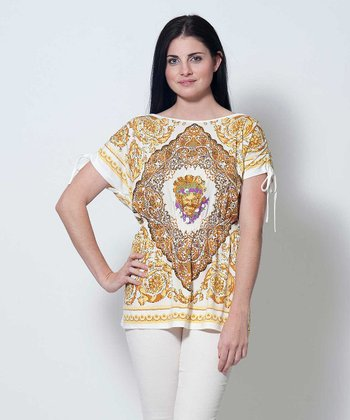 Yellow & White Carole Tunic
