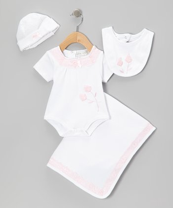 Pink Rose Bodysuit Set