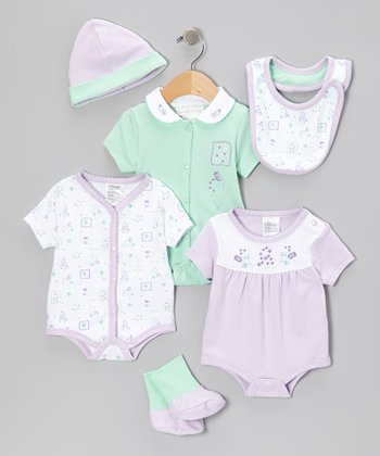 Rumble Tumble Lavender Bodysuit Set