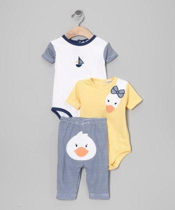 Rumble Tumble Yellow Duck Bodysuit Set - Infant