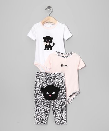 Black Cat Bodysuit Set - Infant