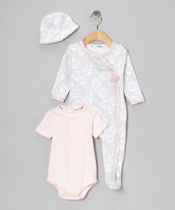 Pink Wrap Footie Set - Infant