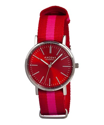 Red & Pink Vintage Watch - Women
