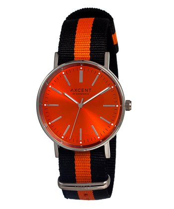 Navy & Orange Vintage Watch - Women