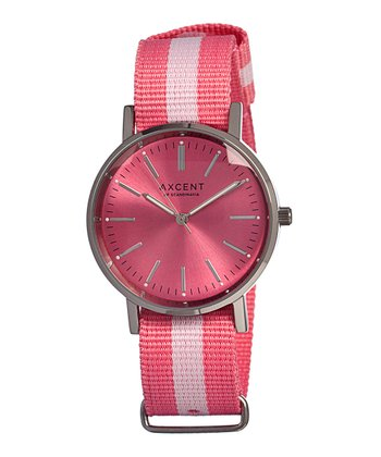 Pink & White Vintage Watch - Women