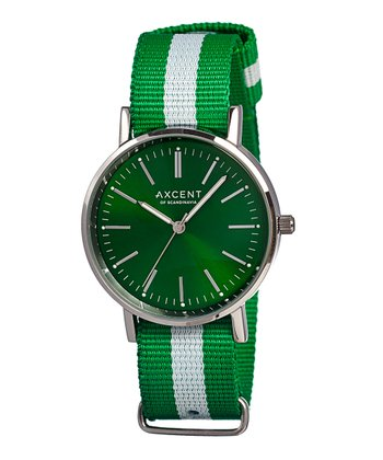 Green & White Vintage Watch - Women