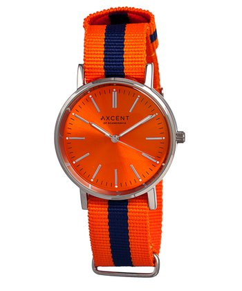 Orange & Navy Vintage Watch - Women