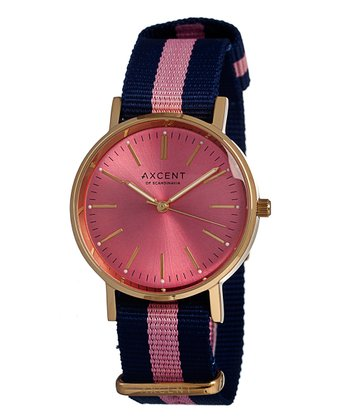 Blue & Pink Vintage Watch - Women