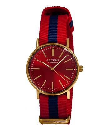 Red & Blue Vintage Watch - Women