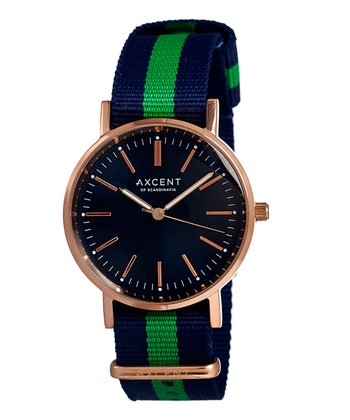 Blue & Green Vintage Watch