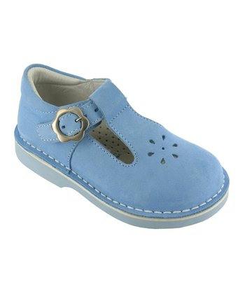 Light Blue Madeline T-Strap Shoe