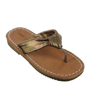 Bronze Metallic Rochelle Leather Sandal