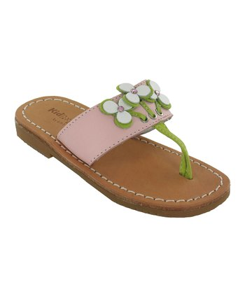 Pink Piper Leather Sandal