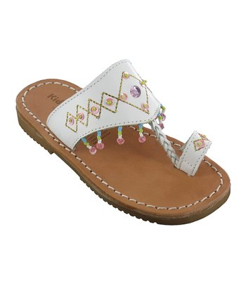 White Guadaloupe Leather Sandal