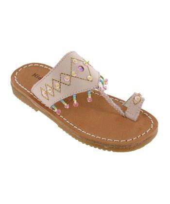 Pink Guadaloupe Leather Sandal