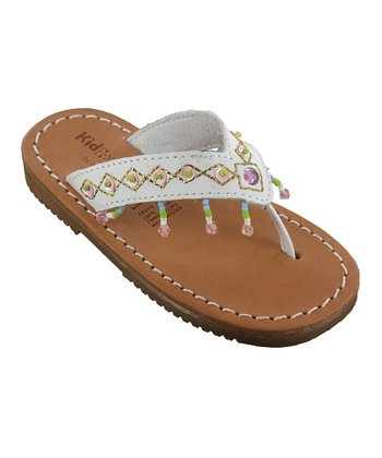 White Julie Leather Sandal