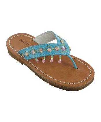 Turquoise Julie Leather Sandal